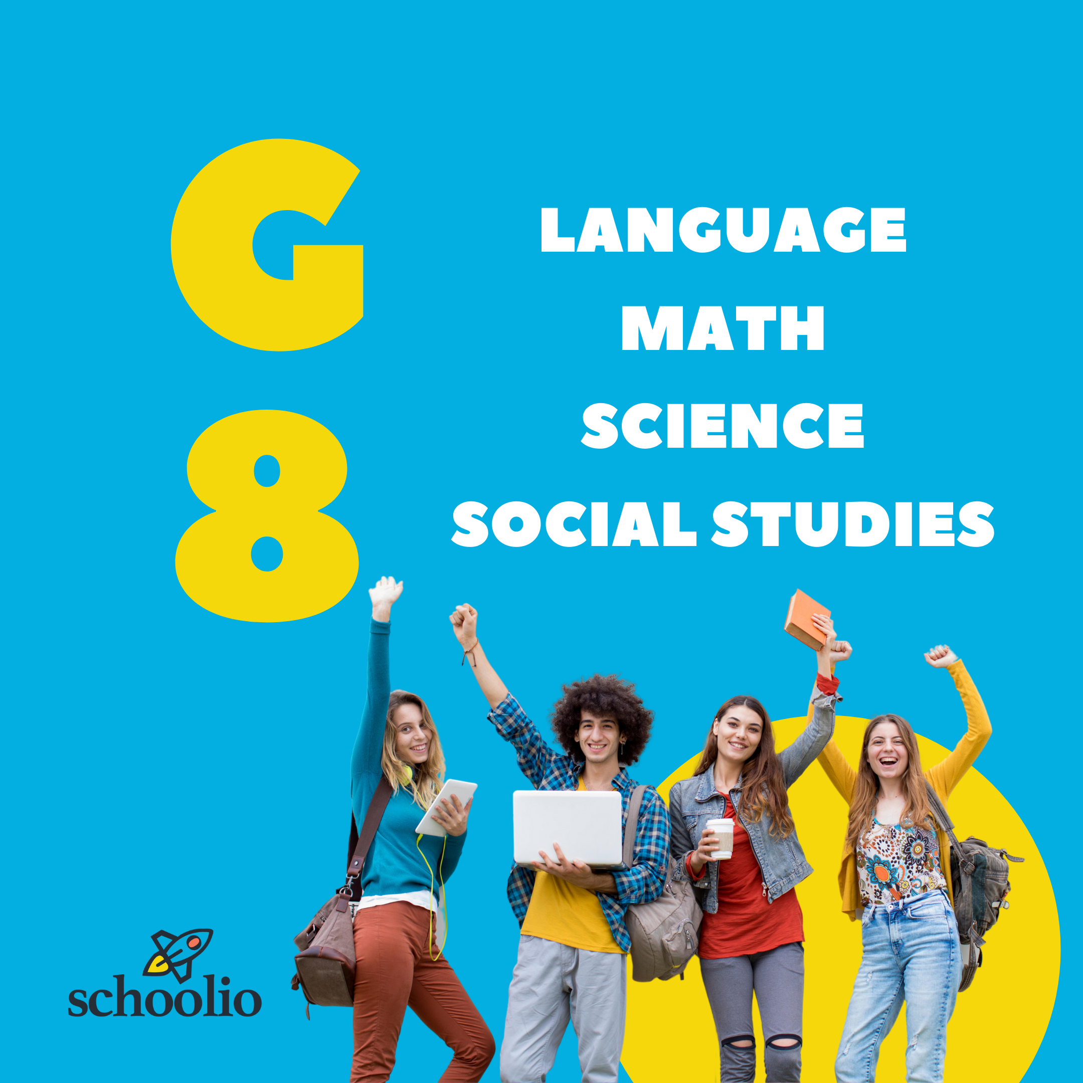 Schoolio homeschooling for canadian curriculum grade 8 all subjects pack