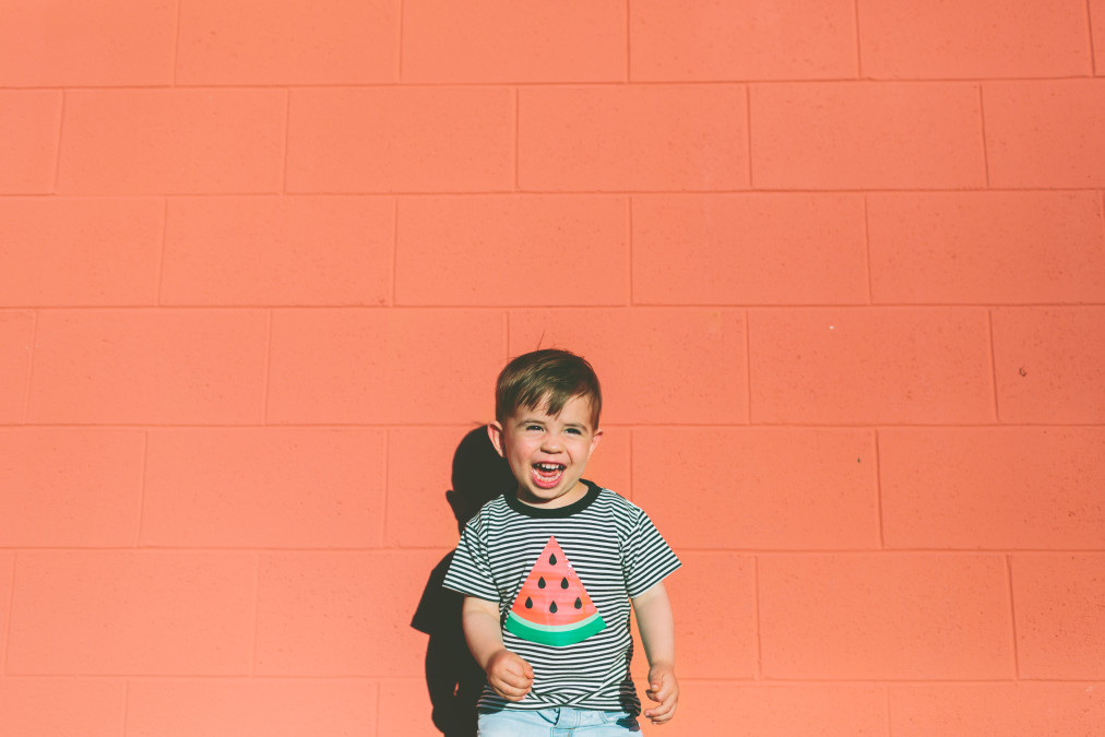 portrait wall colorful summer child monochrome boy smiling toddler background happy laughing t20 d1K863
